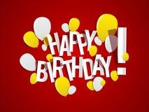 поздравительая открытка ко дню рождения счастливая Стоковые Изображения RF