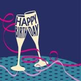 поздравительая открытка ко дню рождения счастливая Стоковое Изображение RF