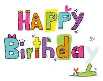поздравительая открытка ко дню рождения счастливая Стоковое Изображение