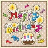 поздравительая открытка ко дню рождения счастливая Стоковые Фото