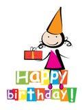 Поздравительая открытка ко дню рождения с днем рождений бесплатная иллюстрация