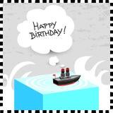 Поздравительая открытка ко дню рождения с днем рождений Стоковое фото RF