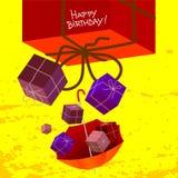 Поздравительая открытка ко дню рождения с днем рождений Стоковое Изображение