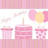 Поздравительая открытка ко дню рождения Стоковая Фотография RF