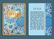 Поздравительная карточка и карточка приглашения с мандалой конструируют Стоковое Изображение