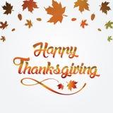 Поздравительная открытка благодарения с Стоковые Фотографии RF