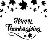 Поздравительная открытка благодарения с бесплатная иллюстрация