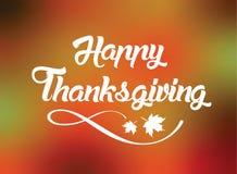 Поздравительная открытка благодарения с Стоковое Изображение