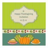 Поздравительная открытка благодарения Стоковые Фотографии RF