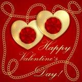 Поздравительная открытка валентинки Святого вектора бесплатная иллюстрация