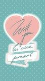 Поздравительная открытка валентинки Стоковые Изображения RF