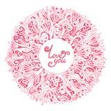 Поздравительная открытка валентинки Стоковые Фотографии RF