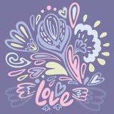 Поздравительная открытка валентинки Иллюстрация штока