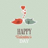 Поздравительная открытка валентинки Стоковое Изображение RF