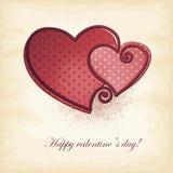 Поздравительная открытка валентинки Стоковое Изображение