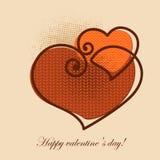 Поздравительная открытка валентинки Стоковое фото RF