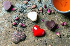 Поздравительная открытка валентинки St Стоковые Фотографии RF