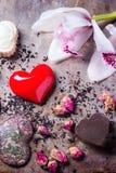 Поздравительная открытка валентинки St Стоковое Изображение