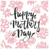 Поздравительная открытка вектора дня матерей Стоковые Фотографии RF