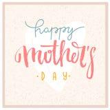 Поздравительная открытка вектора дня матерей Стоковые Фото