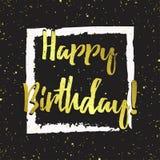 Поздравительная открытка вектора с днем рождения Стоковые Фото