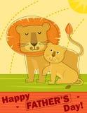 Поздравительная открытка Дня отца Стоковые Фото