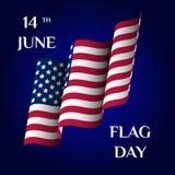 Поздравительная открытка Дня флага Стоковая Фотография