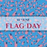 Поздравительная открытка Дня флага Стоковые Изображения