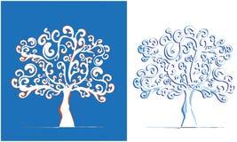 Поздравительная открытка дерева Стоковые Изображения