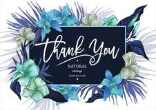 Поздравительная открытка лета тропическая винтажная флористическая бесплатная иллюстрация
