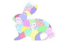 Поздравительная открытка зайчика пасхи Стоковая Фотография