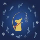 Поздравительная открытка зимы Стоковое фото RF