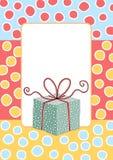 Поздравительная открытка коробки подарка на день рождения Стоковые Изображения