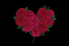 поздравительная открытка красных роз Стоковое Изображение RF