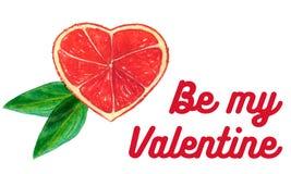 Поздравительная открытка к дню валентинки Стоковая Фотография RF