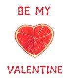 Поздравительная открытка к дню валентинки Стоковое Изображение