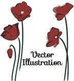 Поздравительная открытка мака карточки Стоковые Фото