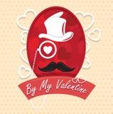 Поздравительная открытка моей иллюстрацией вектора дня валентинки счастливой Дизайн картины Рогулька или приглашение Стоковые Изображения RF