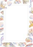 Поздравительная открытка моря Стоковая Фотография