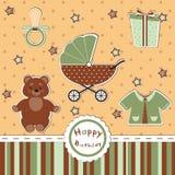 Поздравительая открытка ко дню рождения детей Стоковое Фото
