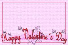 Поздравительная открытка на день валентинки Стоковые Изображения
