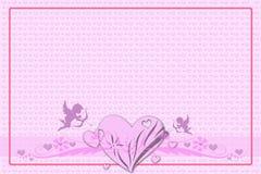 Поздравительная открытка на день валентинки стоковое изображение rf