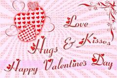 Поздравительная открытка на день валентинки Стоковое фото RF