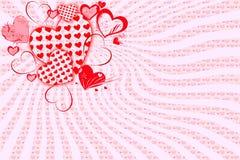 Поздравительная открытка на день валентинки Стоковая Фотография RF