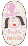 Поздравительная открытка на день матерей Стоковое Изображение RF