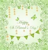 Поздравительная открытка на день ` s St. Patrick Стоковые Фотографии RF