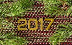 Поздравительная открытка на новое 2017 Стоковое Изображение