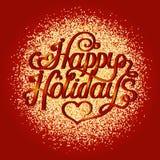 Поздравительная открытка Нового Года и рождества Стоковые Фото