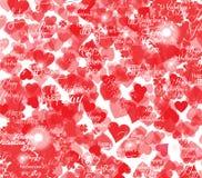 Поздравительная открытка дня Валентайн с сердцами и кружевной тесемкой иллюстрация вектора