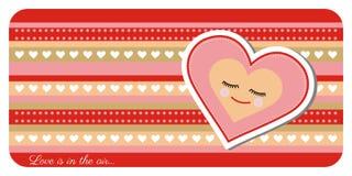 Поздравительная открытка дня валентинки иллюстрация вектора